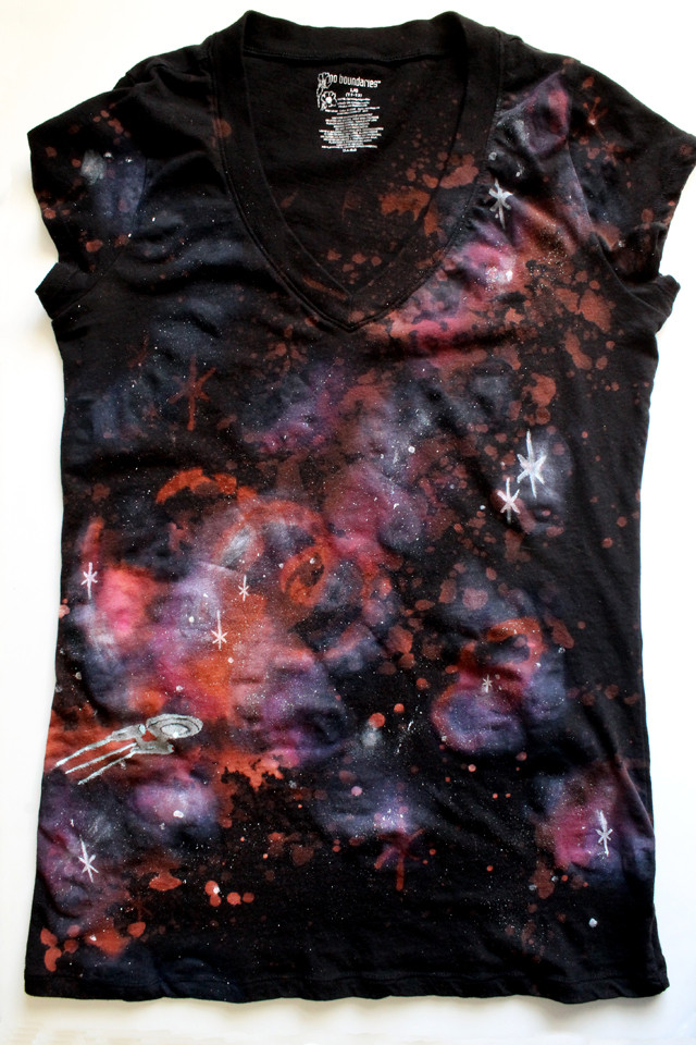 Best ideas about DIY Galaxy Shirts . Save or Pin punk projects Warp Speed Galaxy Shirt DIY Now.