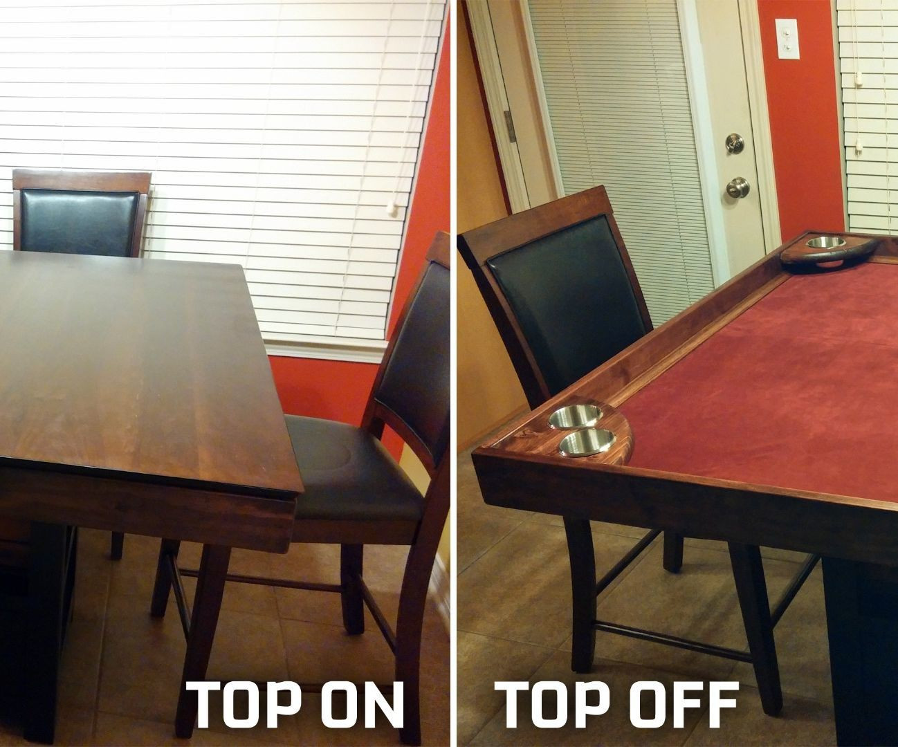 Best ideas about DIY Game Table . Save or Pin DIY Game Table Conversion Now.