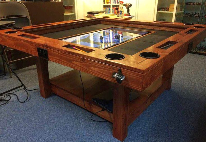 Best ideas about DIY Game Table . Save or Pin DIY gaming table conceals 40 inch HDTV to display Roll20 Now.