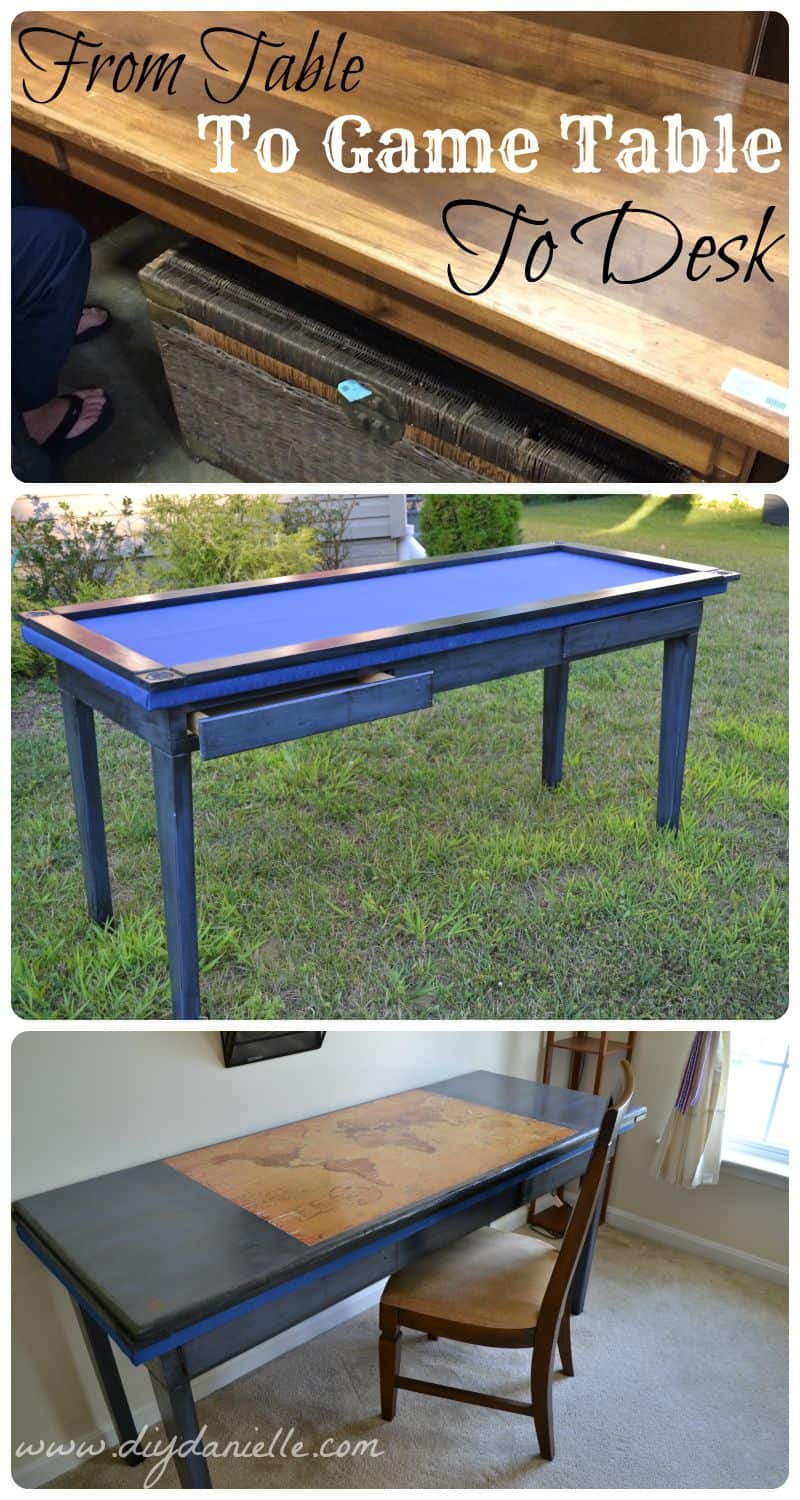 Best ideas about DIY Game Table . Save or Pin DIY Gaming Table and Desk From an Upcycled Table DIY Now.