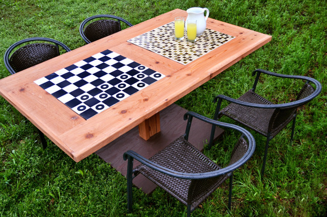 Best ideas about DIY Game Table . Save or Pin DIY Outdoor Checkers Game Table BLACK DECKER Now.