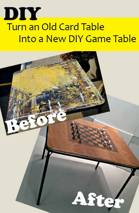 Best ideas about DIY Game Table . Save or Pin How To Upcycle and Old Card Table Into a New Game Table Now.