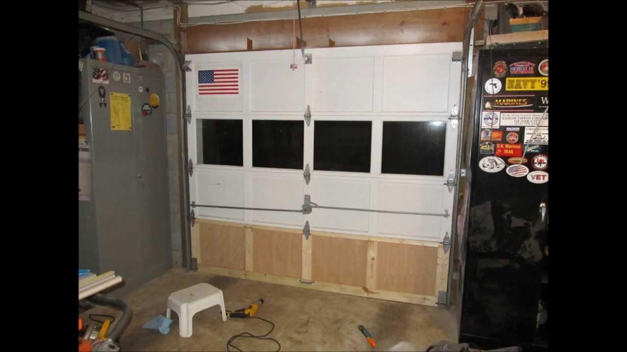Best ideas about DIY Garage Door Replacement . Save or Pin Garage Door Repair Slideshow Now.