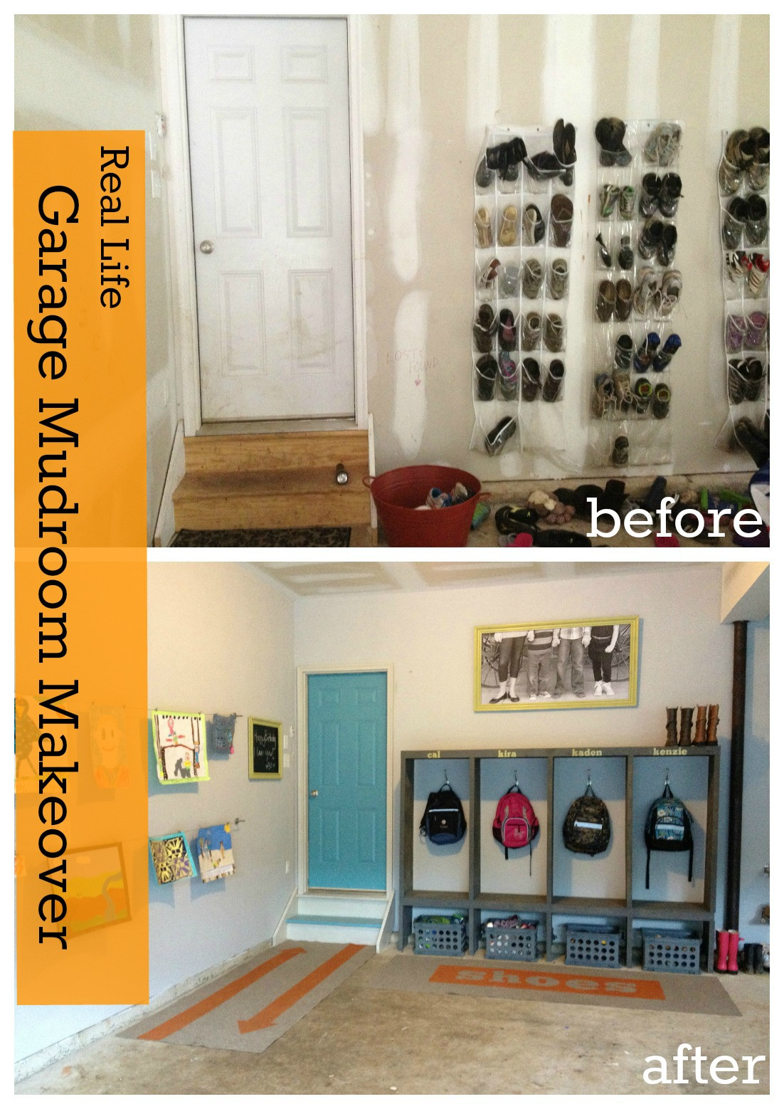 Best ideas about DIY Garage Ideas . Save or Pin Garage Mudroom Makeover For the REAL Family Now.