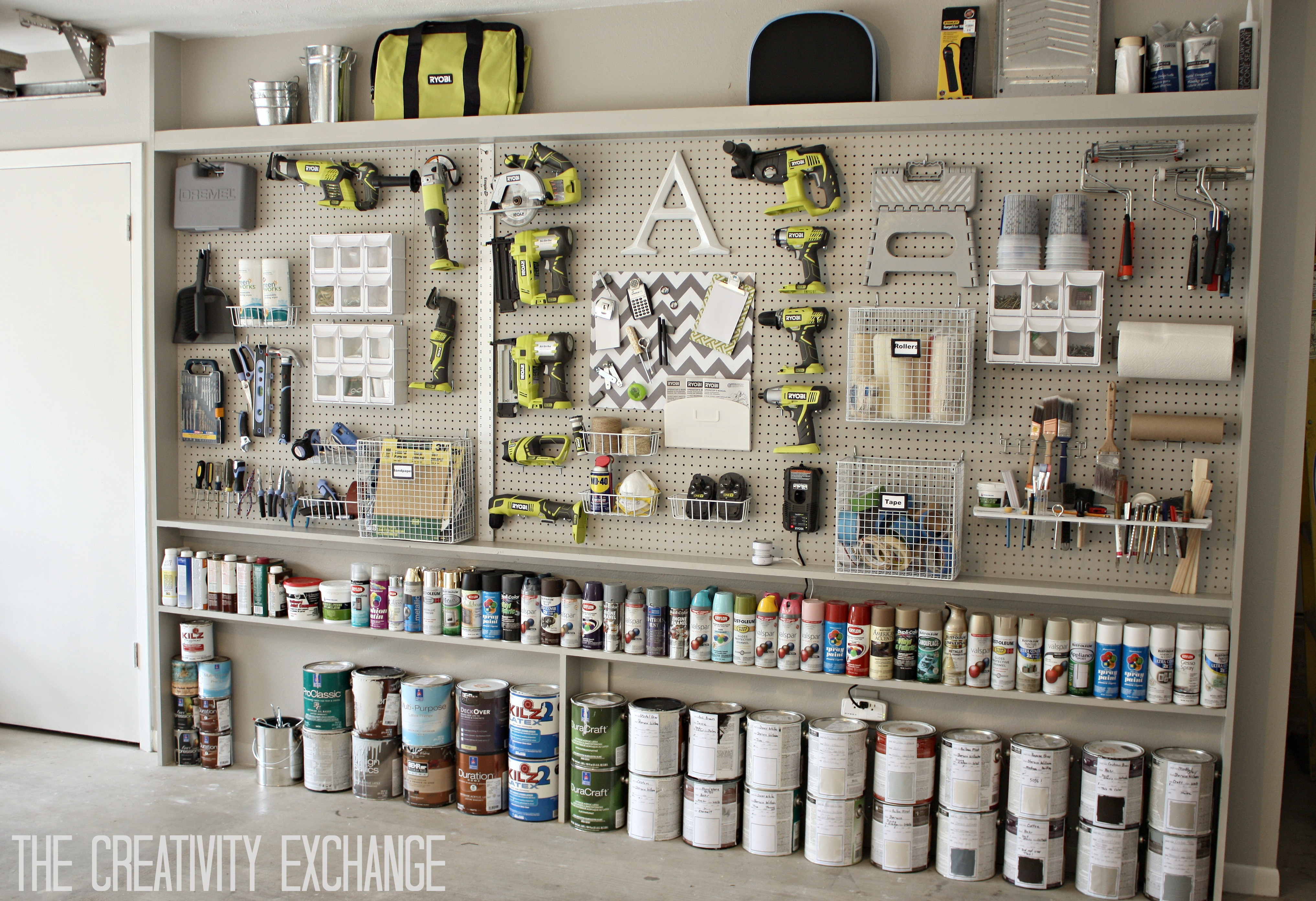 Best ideas about DIY Garage Ideas . Save or Pin Organizing the Garage with DIY Pegboard Storage Wall Now.