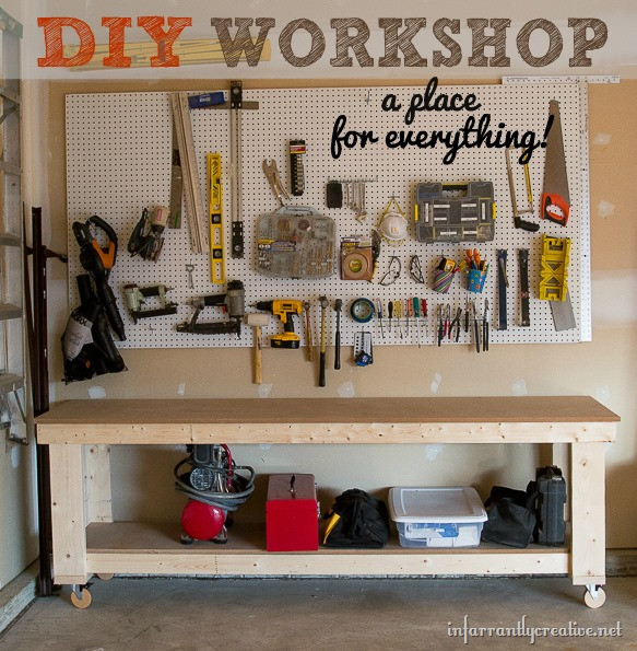 Best ideas about DIY Garage Organizing . Save or Pin Garage Organization – DIY Workshop Now.