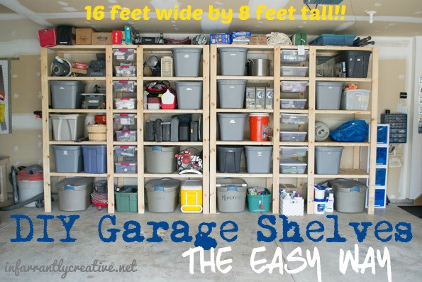 Best ideas about DIY Garage Organizing . Save or Pin How to Build Garage Shelves Now.