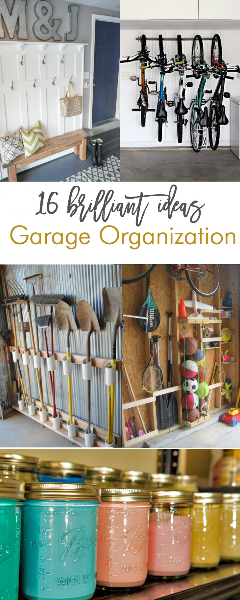 Best ideas about DIY Garage Organizing . Save or Pin 16 Brilliant DIY Garage Organization Ideas Now.