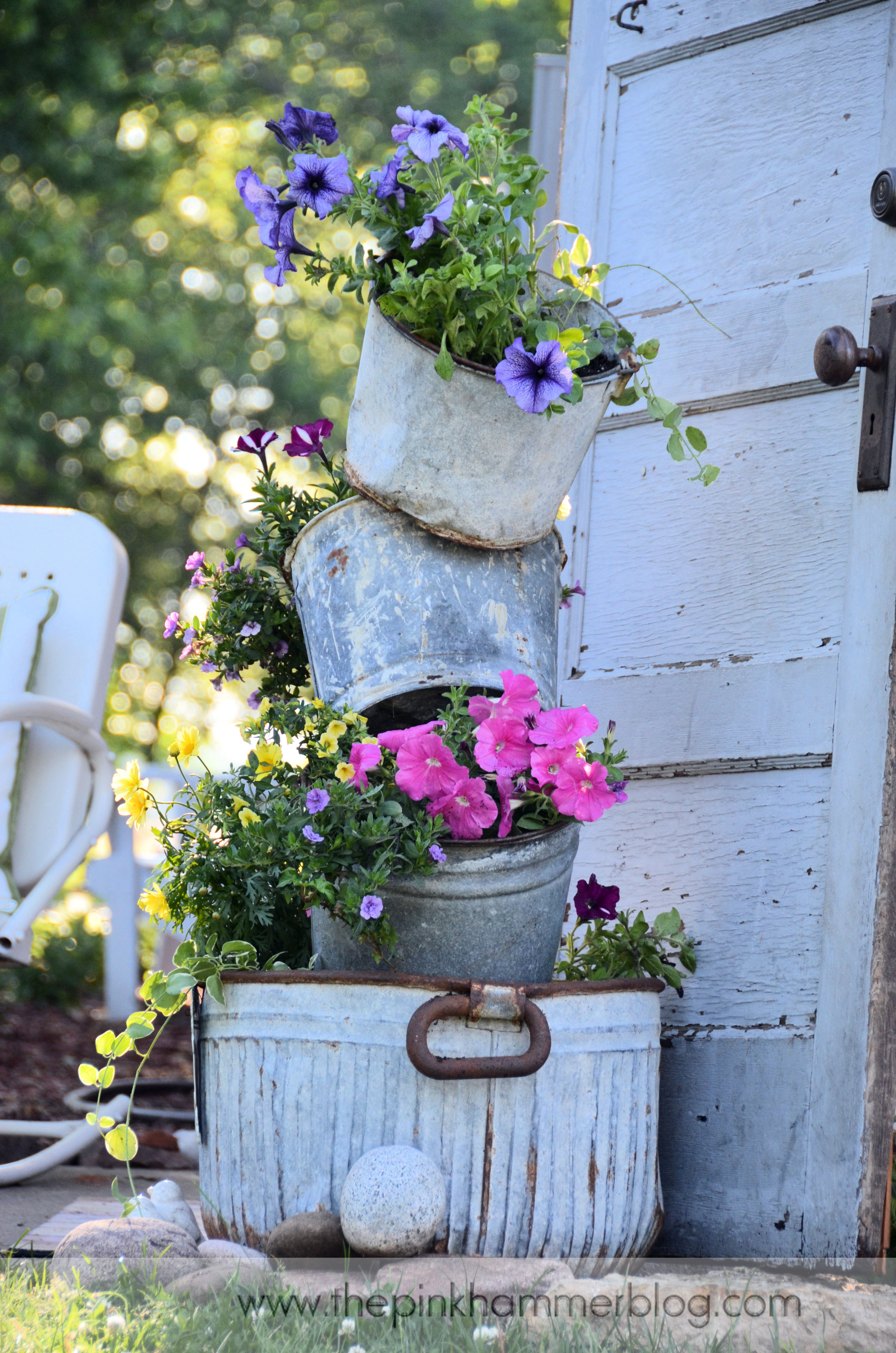 Best ideas about DIY Garden Art . Save or Pin Primitive tipsy pot planters Now.