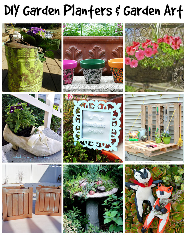 Best ideas about DIY Garden Art . Save or Pin DIY Garden Planters and DIY Garden Art Deja Vue Designs Now.