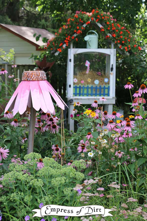 Best ideas about DIY Garden Art . Save or Pin How to Make Giant Garden Art Coneflowers Now.