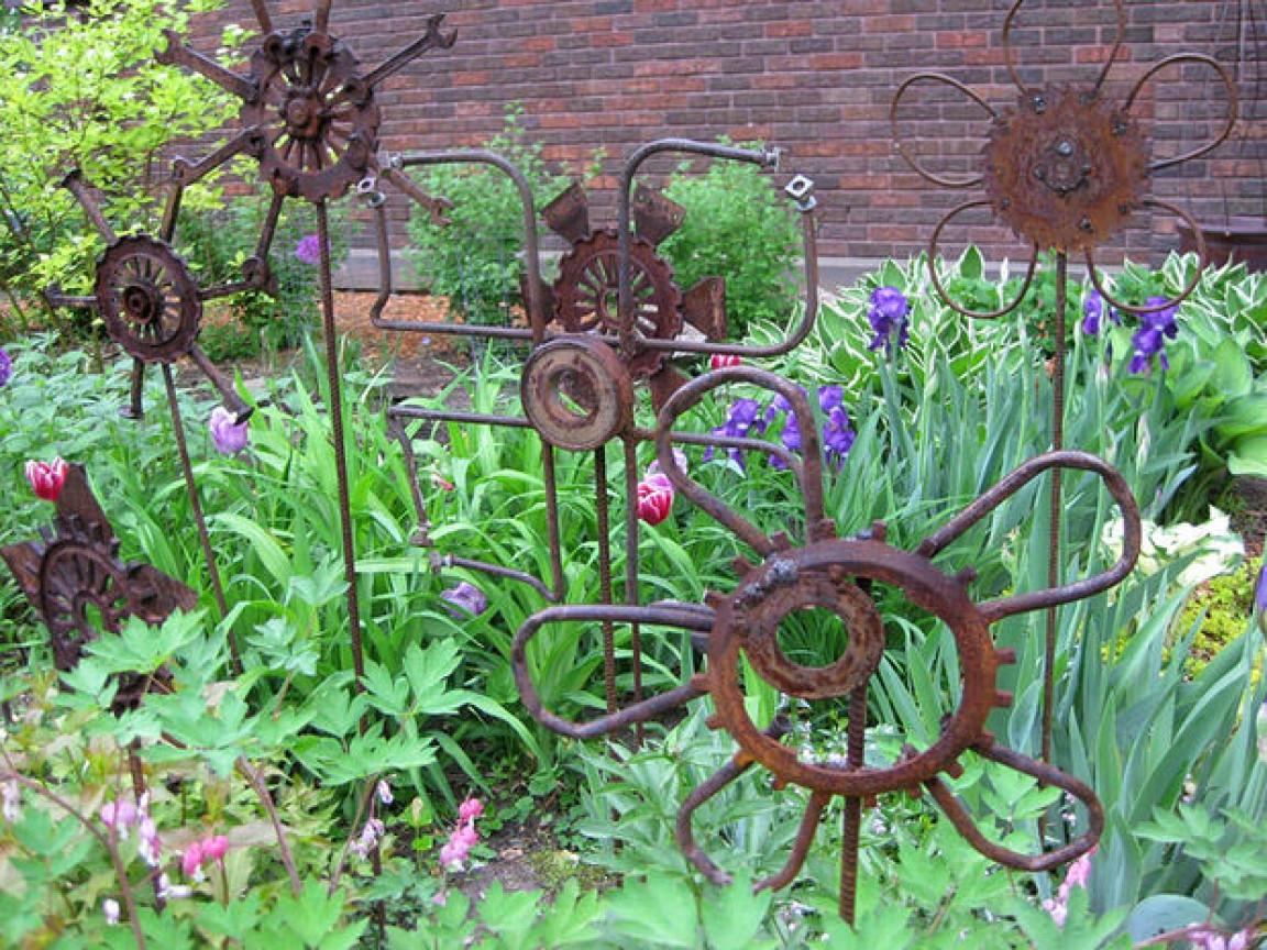 Best ideas about DIY Garden Art . Save or Pin Yard art to make diy garden art from junk easy diy garden Now.