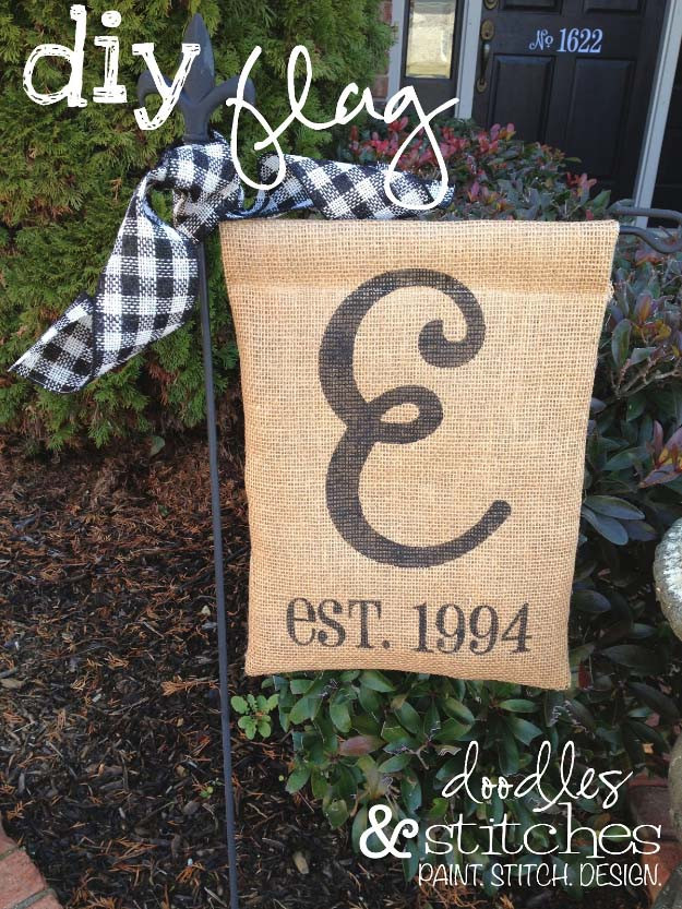 Best ideas about DIY Garden Flag . Save or Pin 50 Creative DIY Projects Made with Burlap Now.