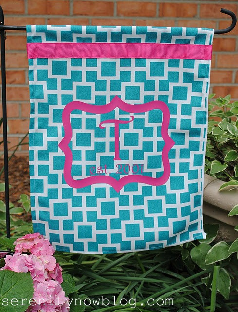 Best ideas about DIY Garden Flag . Save or Pin Serenity Now DIY Monogram Garden Flag Now.