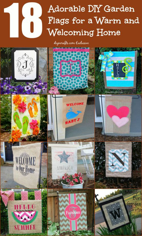 Best ideas about DIY Garden Flag . Save or Pin 18 Adorable DIY Garden Flags for a Warm and Wel ing Home Now.