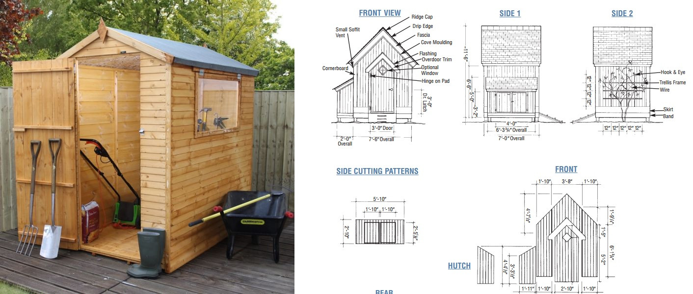 Best ideas about DIY Garden Shed Plans . Save or Pin How To Build A Garden Shed From Scratch Simple Plans Now.