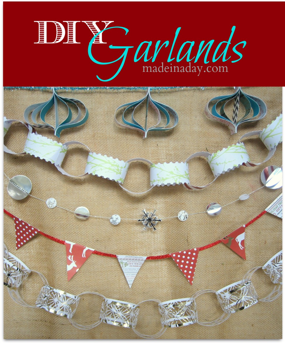 Best ideas about DIY Garland Christmas . Save or Pin 5 Easy Holiday Garlands Now.