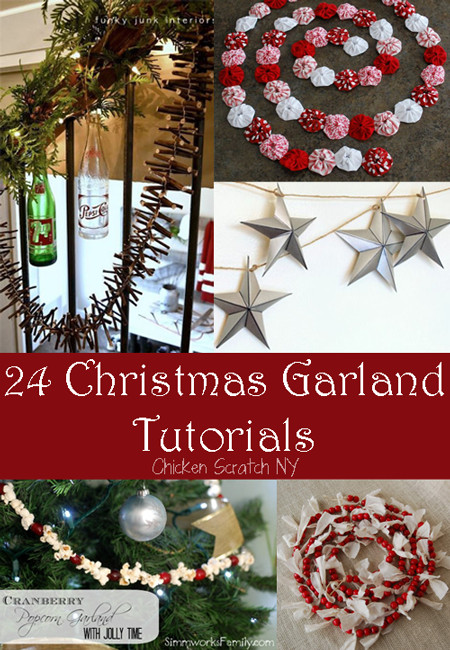 Best ideas about DIY Garland Christmas . Save or Pin 24 Holiday Garland Tutorials Now.