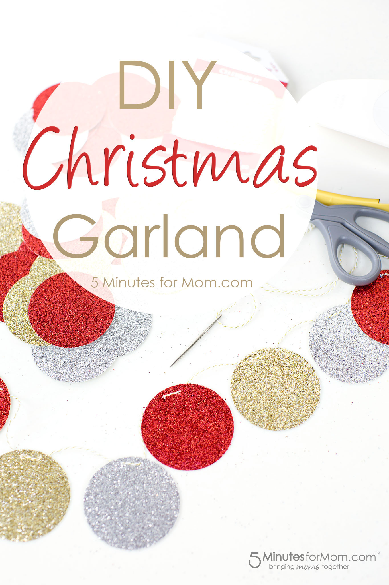 Best ideas about DIY Garland Christmas . Save or Pin Easy DIY Christmas Garland 5 Minutes for Mom Now.
