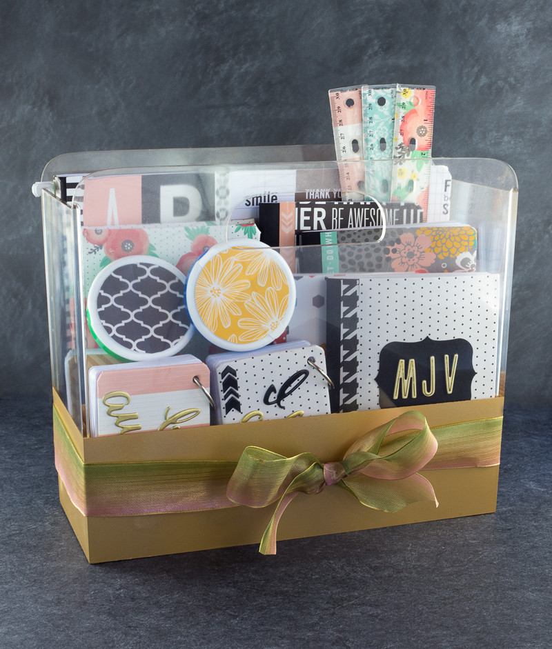 Best ideas about Diy Gift Basket Ideas For Her . Save or Pin DIY College School Supplies Gift Basket Tatertots and Jello Now.