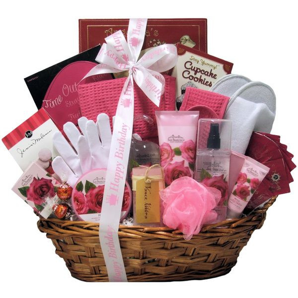 Best ideas about Diy Gift Basket Ideas For Her . Save or Pin Spa birthday t basket for women Now.