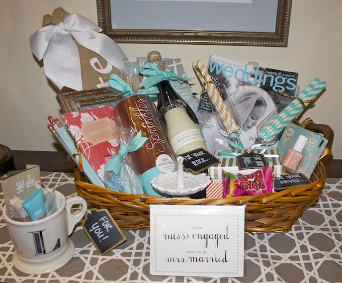Best ideas about Diy Gift Basket Ideas For Her . Save or Pin How To Engagement Gift Basket Hosting & Toasting Now.