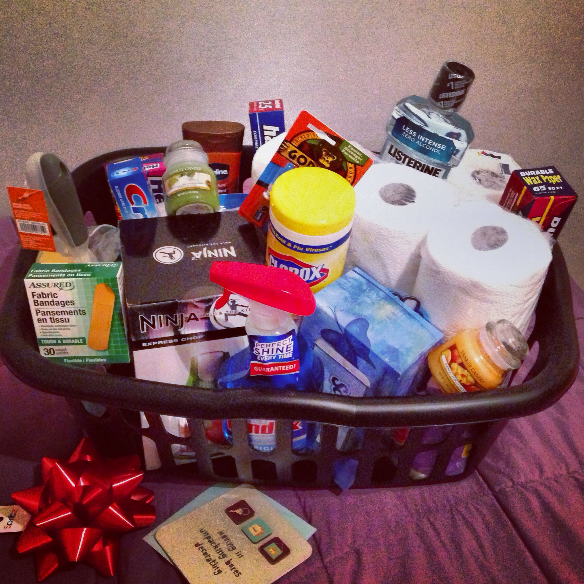 Best ideas about Diy Gift Basket Ideas For Her . Save or Pin DIY Housewarming t basket include household Now.