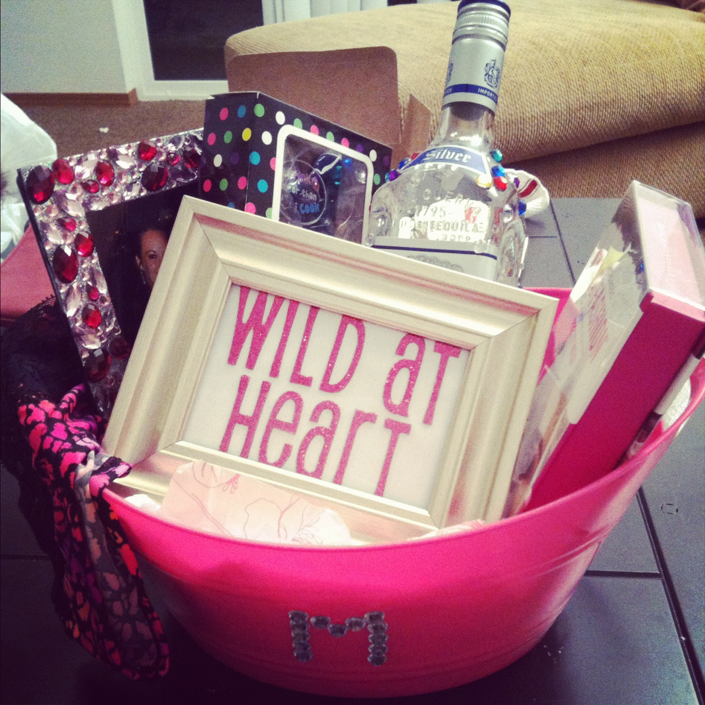 Best ideas about Diy Gift Basket Ideas For Her . Save or Pin DIY Wild at Heart Gift Basket Now.