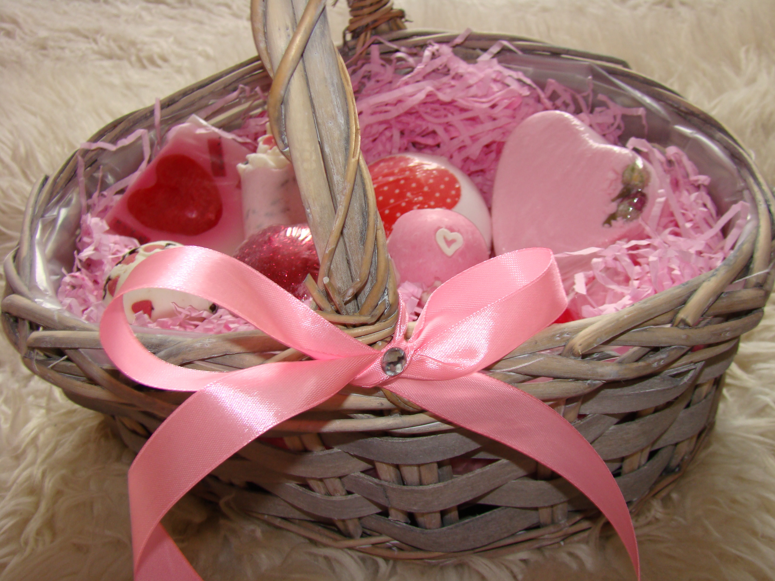 Best ideas about Diy Gift Basket Ideas For Her . Save or Pin Valentine Series DIY Gift Basket for Her Vickisbeauty Now.