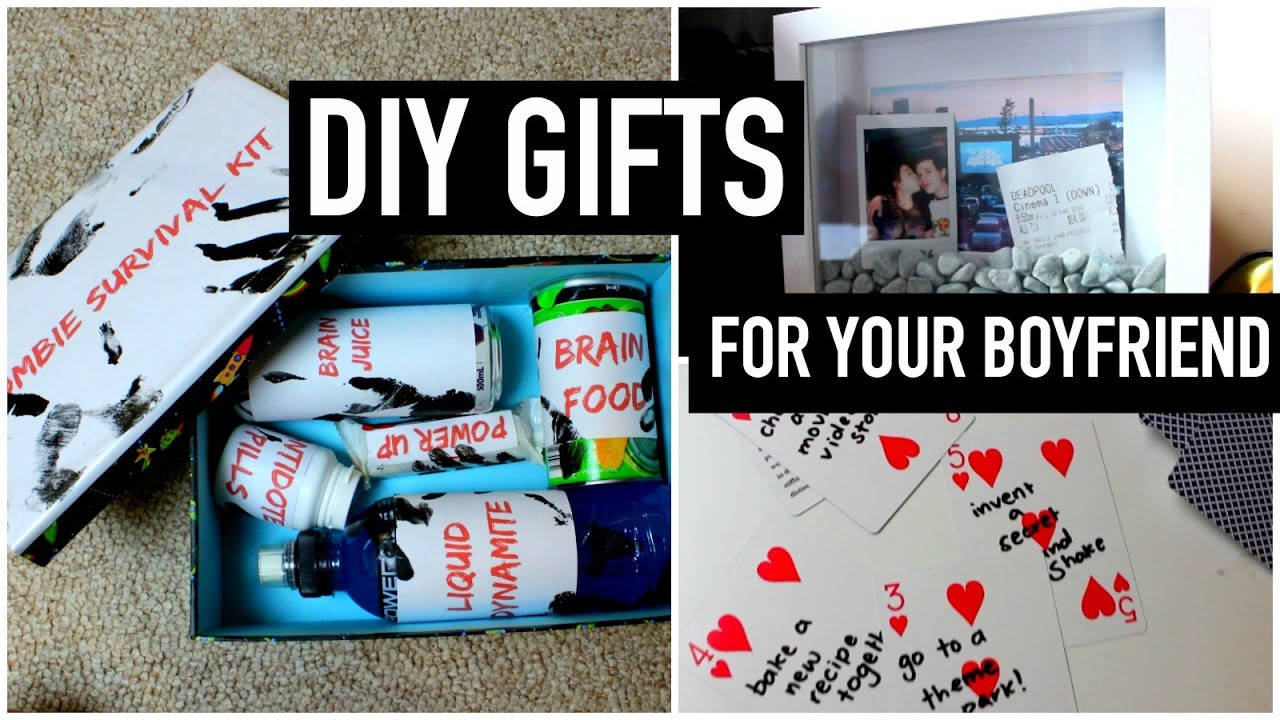 Best ideas about Diy Gift Ideas Boyfriend . Save or Pin DIY Gifts for your boyfriend partner husband etc Last Now.