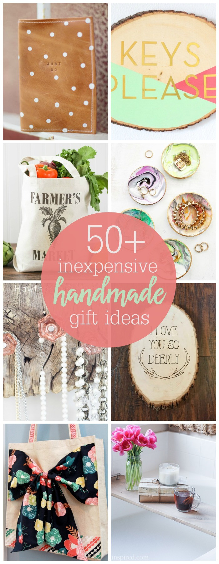 Best ideas about Diy Gift Ideas For Friends . Save or Pin Inexpensive Handmade Gift Ideas Now.