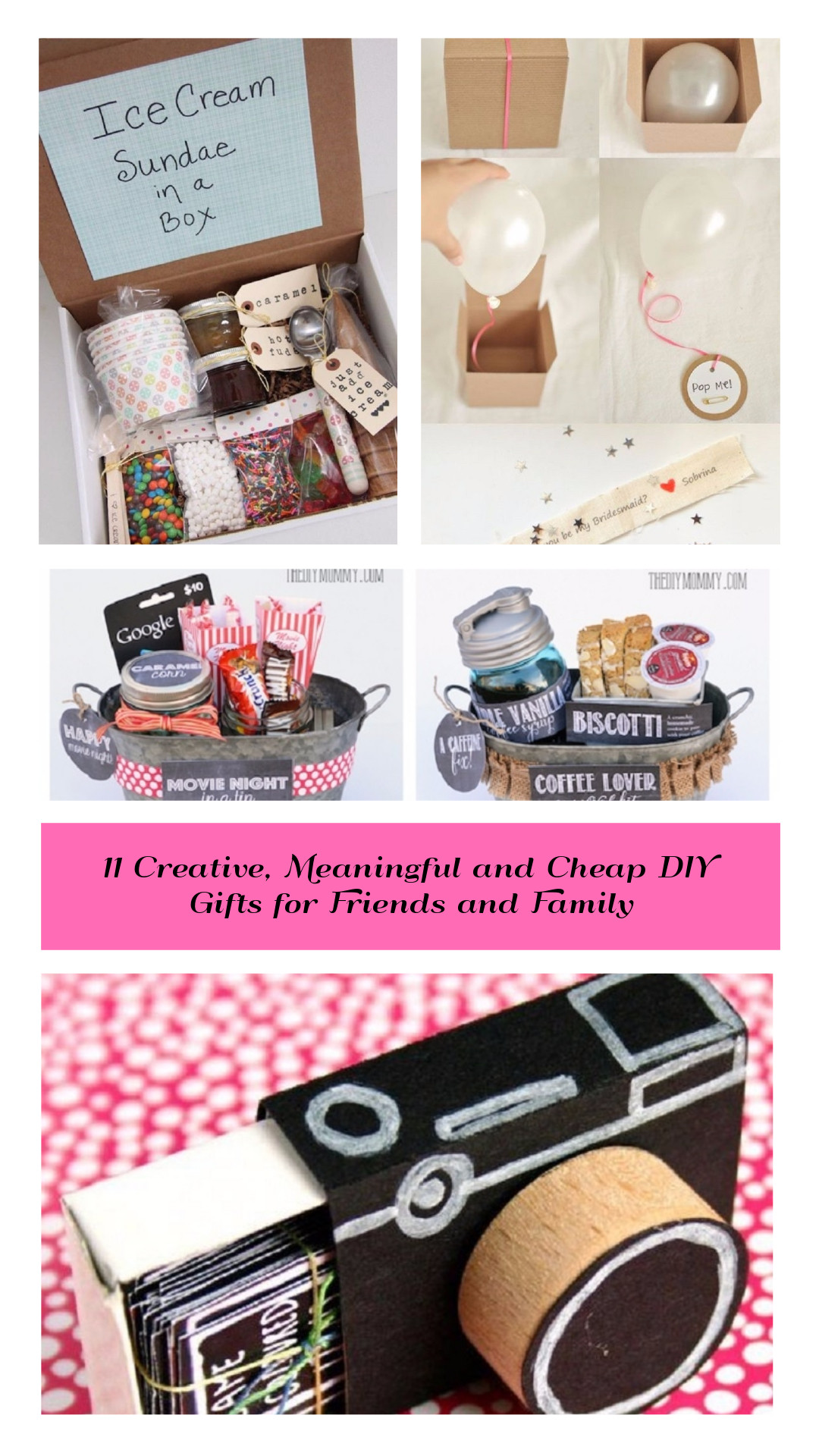 Best ideas about Diy Gift Ideas For Friends . Save or Pin 11 Creative Meaningful and Cheap DIY Gifts for Friends Now.