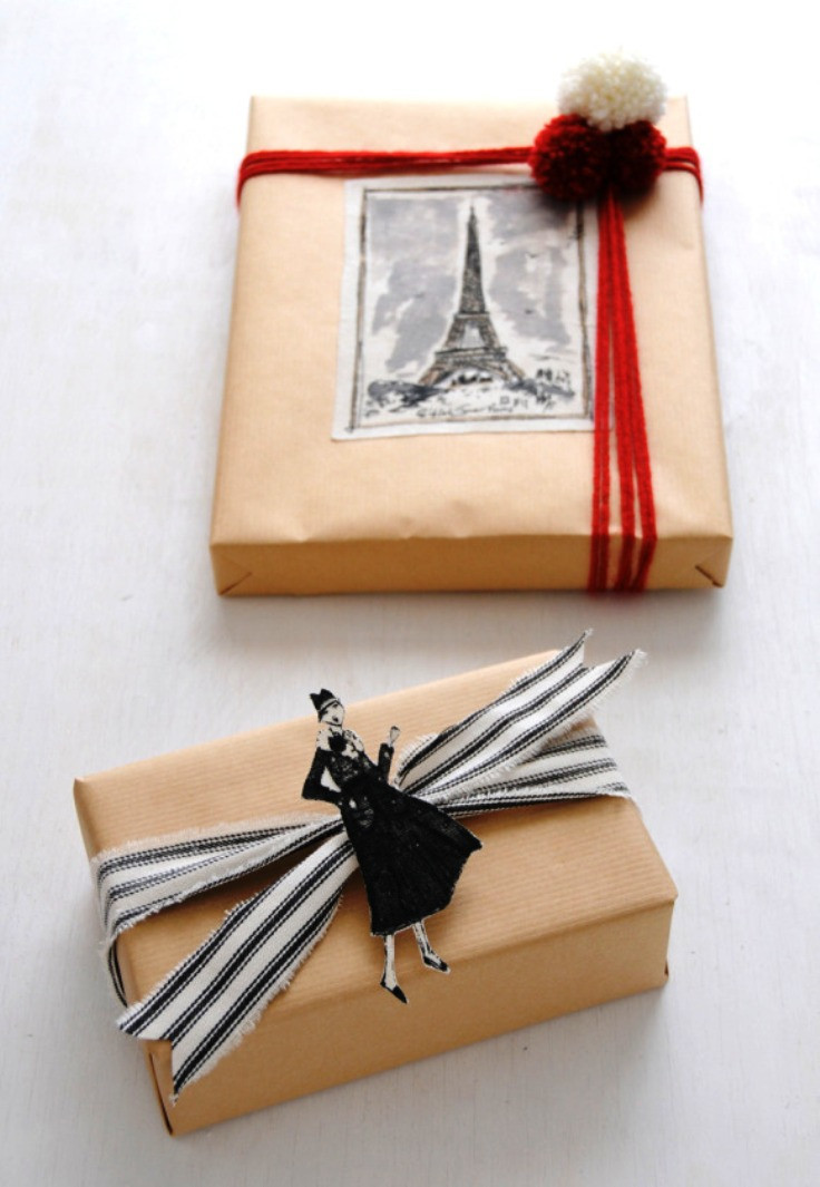 Best ideas about DIY Gift Wrap Ideas . Save or Pin Top 10 Beautiful DIY Brown Paper Wrapping Ideas Now.