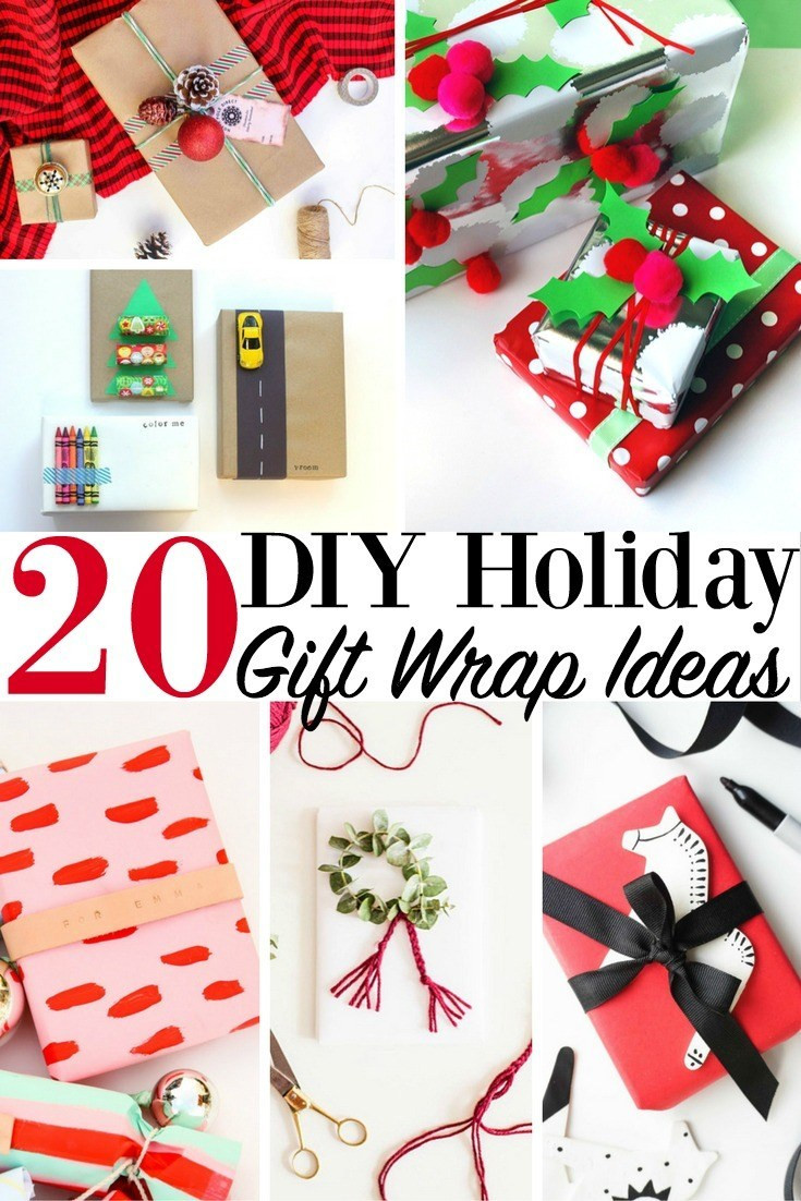 Best ideas about DIY Gift Wrap Ideas . Save or Pin 20 DIY Holiday Gift Wrap Ideas Christmas Presents Now.