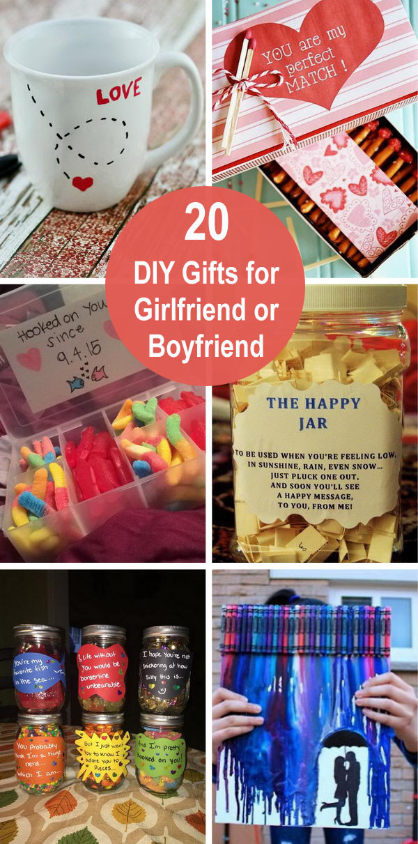 Best ideas about DIY Gifts For Girlfriend . Save or Pin 20 DIY Gifts for Girlfriend or Boyfriend Now.