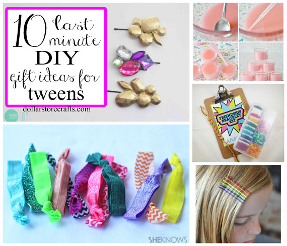 Best ideas about DIY Gifts For Girls . Save or Pin 10 Last Minute DIY Gift Ideas for Tween Girls Dollar Now.
