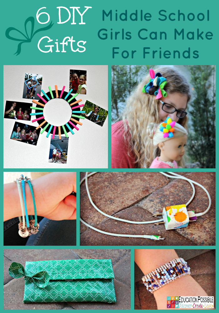 Best ideas about DIY Gifts For Girls . Save or Pin 6 DIY Gifts Middle School Girls Can Make For Friends Now.
