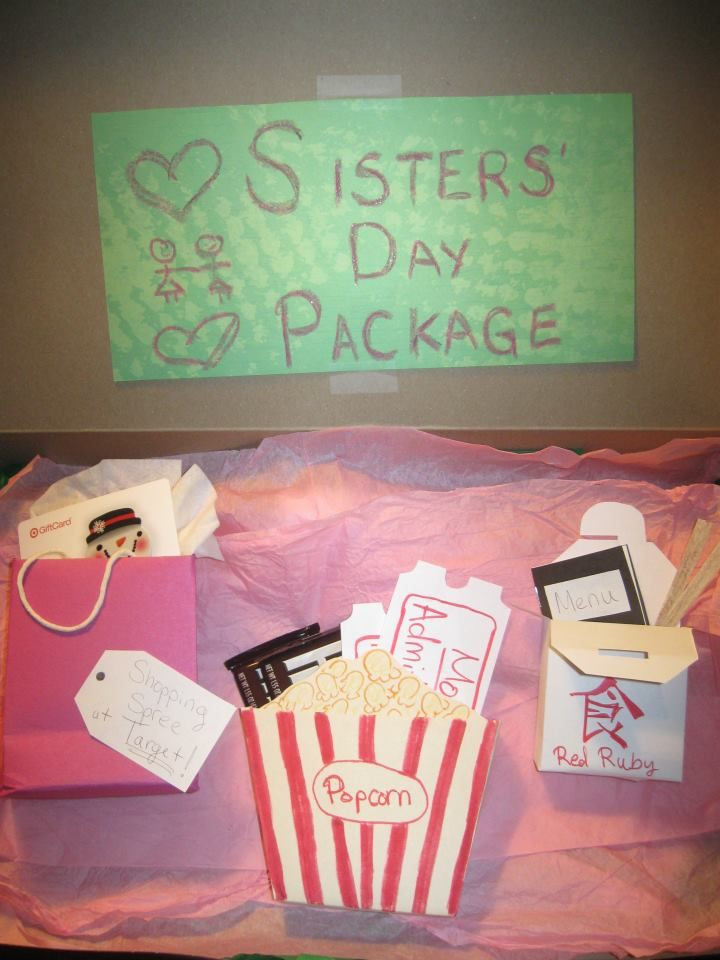 """Best ideas about DIY Gifts For Sister . Save or Pin Homemade """"Sisters Day Package"""" as a Christmas present for Now."""