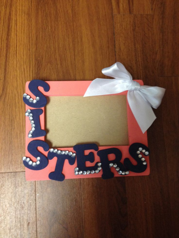Best ideas about DIY Gifts For Sister . Save or Pin e of the cutest picture frames EVER Now.