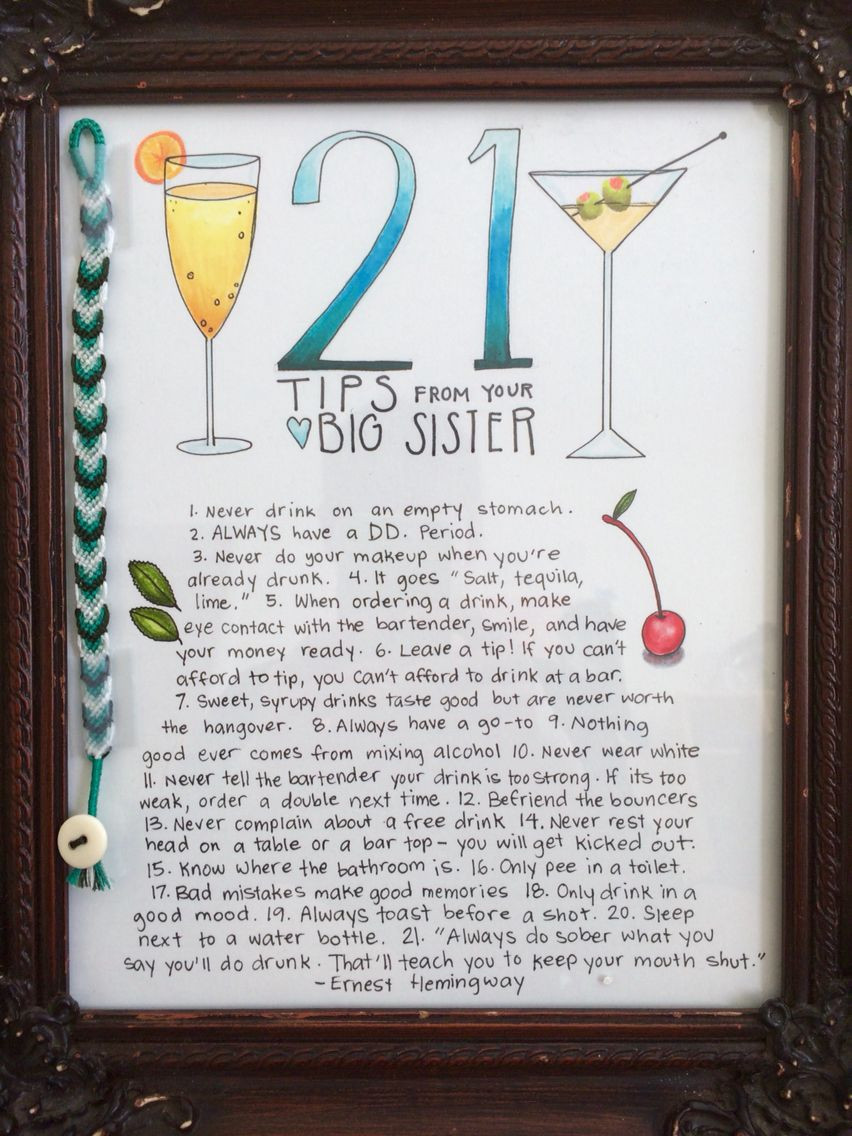 Best ideas about DIY Gifts For Sister . Save or Pin 21st birthday homemade t for little sister Now.