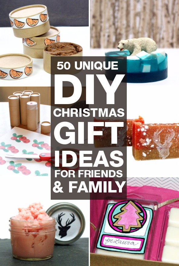 Best ideas about DIY Gifts Ideas For Friends . Save or Pin DIY Christmas Gifts 50 Unique DIY Christmas Gifts You Can Now.