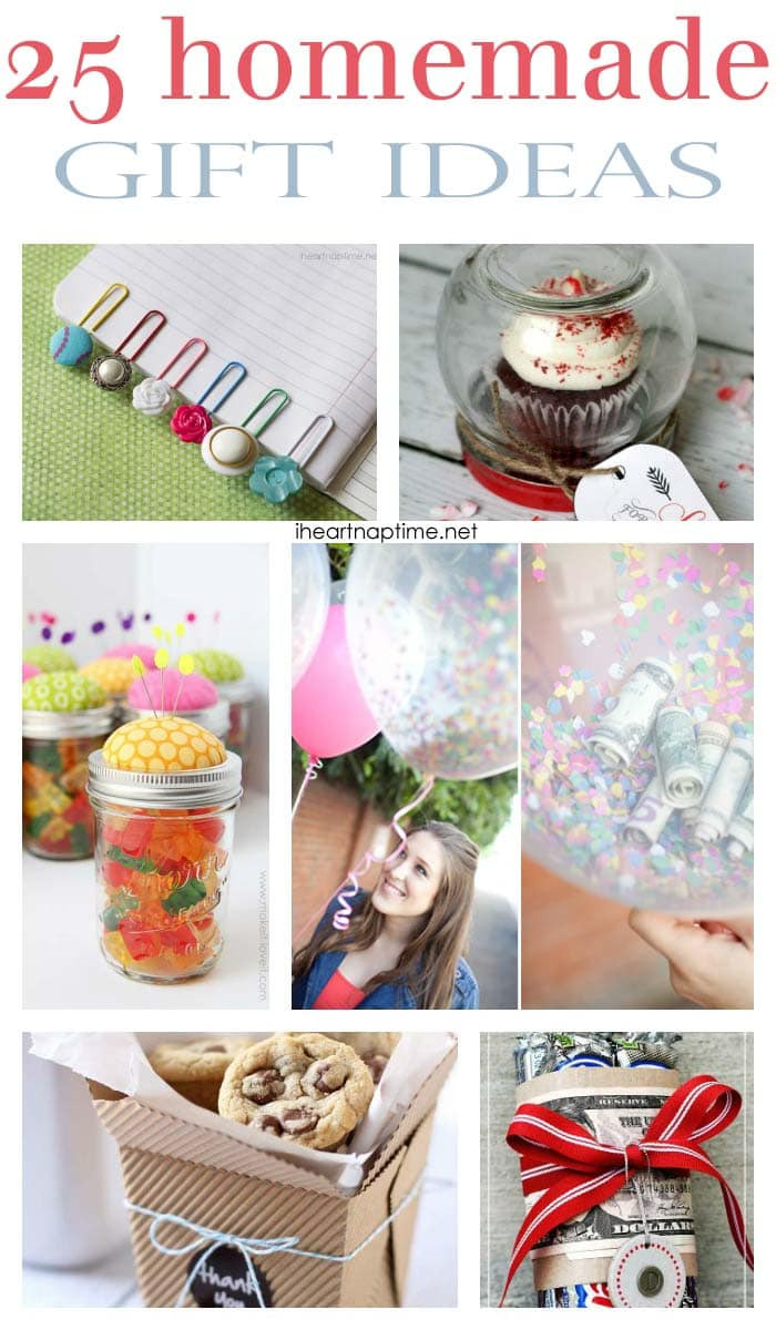 Best ideas about DIY Gifts Ideas For Friends . Save or Pin 25 fabulous homemade ts I Heart Nap Time Now.