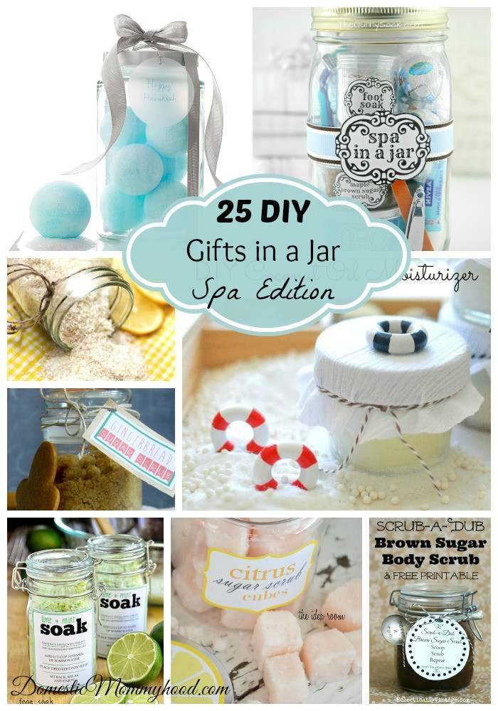 Best ideas about DIY Gifts In A Jar . Save or Pin 25 DIY Gifts in a Jar Spa Edition Domestic Mommyhood Now.