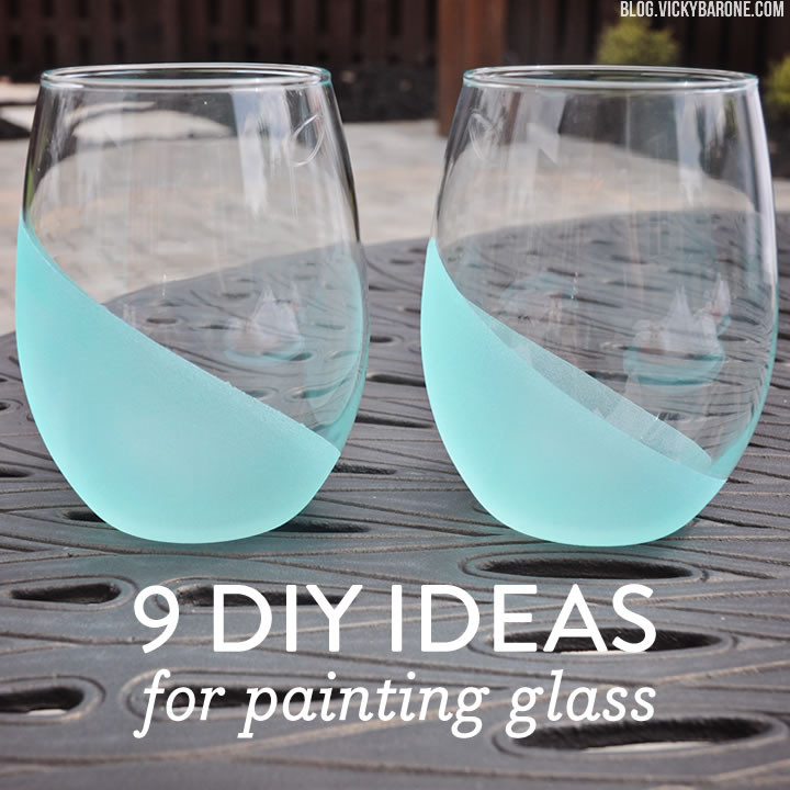 Best ideas about DIY Glass Paint Recipe . Save or Pin 9 DIY Ideas for Painting Glass Vicky Barone Now.