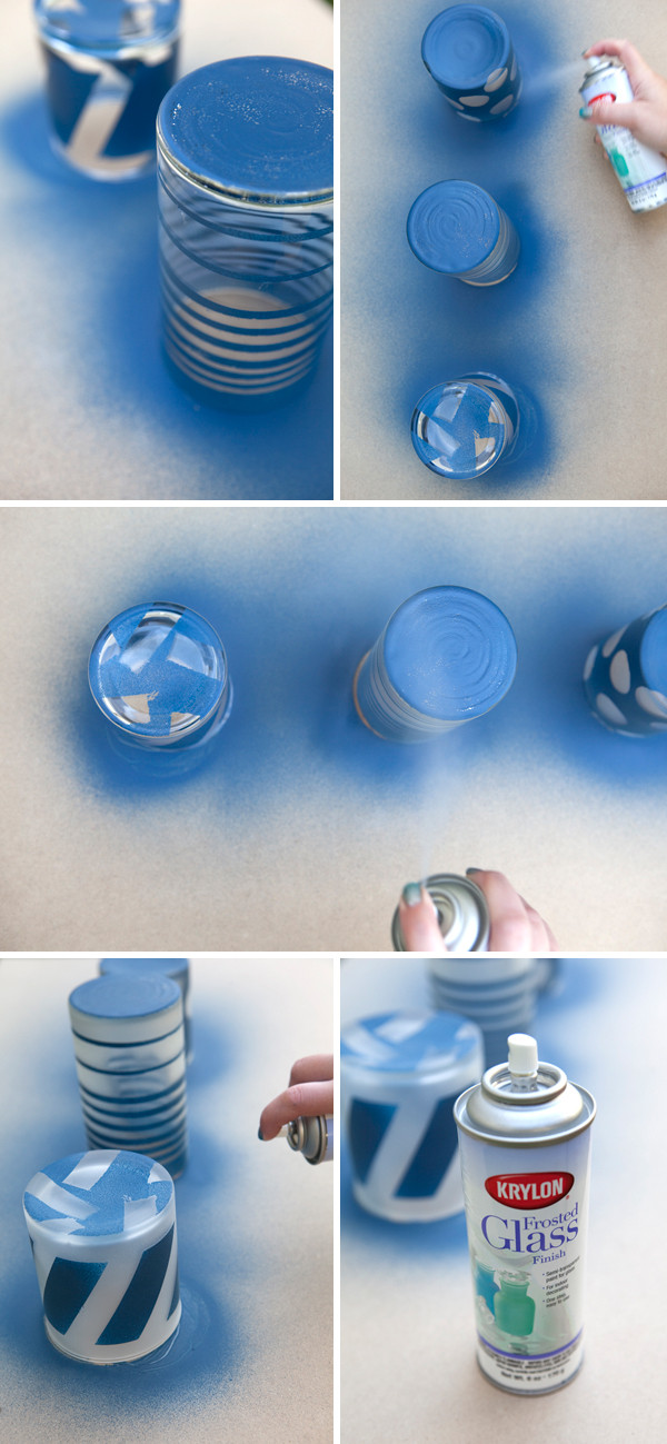 Best ideas about DIY Glass Paint Recipe . Save or Pin Painted Frosted Glass Jars Now.