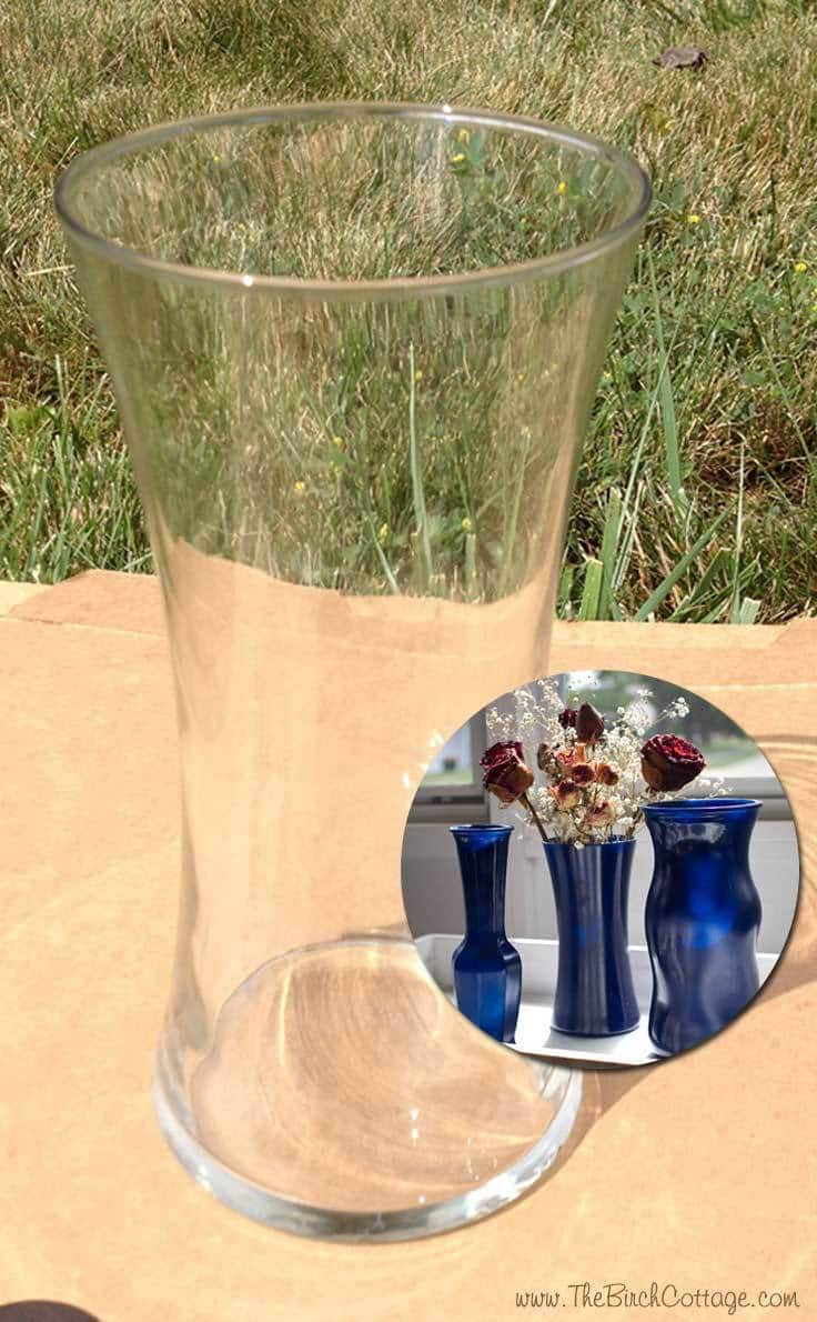 Best ideas about DIY Glass Paint Recipe . Save or Pin DIY Spray Painted Glass Vases Tutorial Kenarry Now.