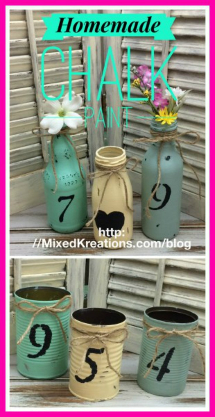 Best ideas about DIY Glass Paint Recipe . Save or Pin Homemade Chalk Paint For All Your Craft Projects Mixed Now.