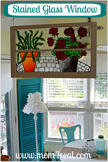 Best ideas about DIY Glass Paint Recipe . Save or Pin Faux Stained Glass Window Mom 4 Real Now.
