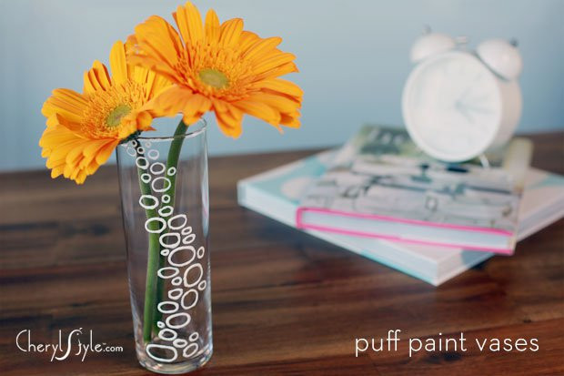 Best ideas about DIY Glass Paint Recipe . Save or Pin Simple DIY painted glass vase Everyday Dishes Now.
