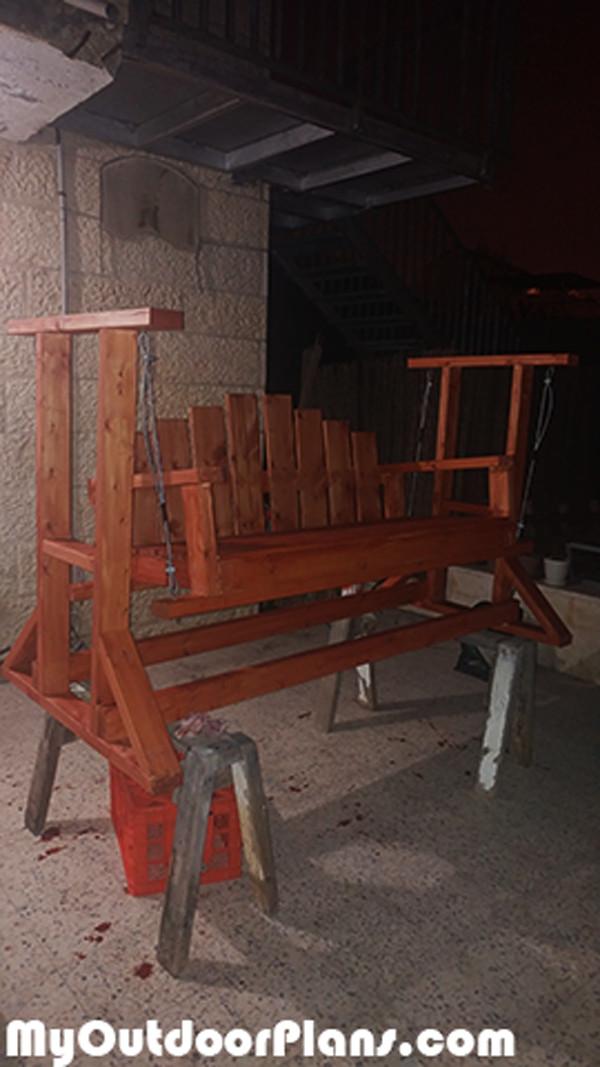 Best ideas about DIY Glider Bench . Save or Pin DIY Wooden Glider Swing Bench MyOutdoorPlans Now.